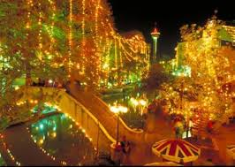 going to san antonio to see the christmas lights they are so