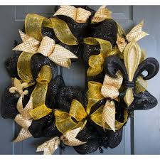 10 fleur de lis ornament black gold glitter mz1749e6