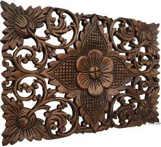 small carved wood wall decor 5 12 asiana home decor