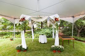 wedding chuppah small backyard wedding package backyard tent rental
