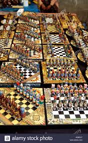 unusual chess sets colourful unusual chess sets on stall pisac market pisac near