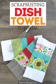 kitchen towel craft ideas scrappy dish towel tutorial towels scrap and dishes