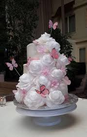 Pink Butterfly Wedding Cake Cakecentral Com