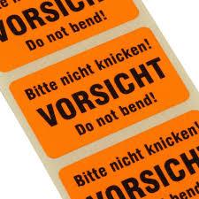 K Hen Vom Hersteller Kaufen Etiketten Bitte Nicht Knicken Do Not Bend Haftpapier 38 X 23mm
