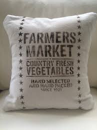 Rustic Shabby Chic Home Decor Farmers Market Throw Pillow Cover Farmhouse French Country Rustic