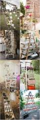22 rustic country wedding decoration ideas with ladders rustic