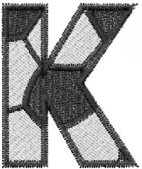 sports embroidery design soccerball letter k from embroidery patterns