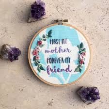 Home Decor Gifts Hand Embroidered Mother U0027s Day Gift Wall Art