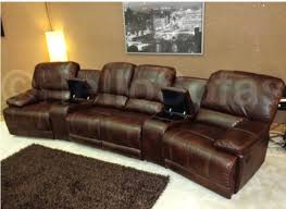 sofa 58 leather recliner sofa veneto brown leather reclining