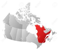 Map Of Quebec Canada by Map Of Canada With The Provinces Filled With A Linear Gradient