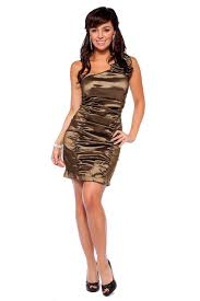 one shoulder cocktail party metallic mini dress hotfromhollywood com