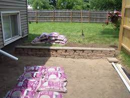 Patio Retaining Wall Pictures How To Install A Small Patio