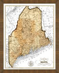 Old Map Old Map Of Maine U2013 A Great Framed Map That U0027s Ready To Hang