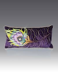 strongwater pillows peacock feather pillow 22 x 11 by strongwater at neiman