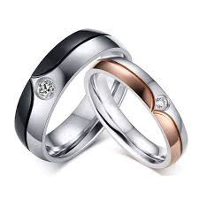 titanium jewelry rings images Chic titanium steel couple rings jeulia jewelry jpg
