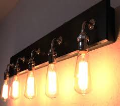 4 Bulb Bathroom Light Fixtures Bulb Rustic Country Barn Wood Bathroom Vanity Light Bar Inside 8