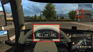 volvo truck video volvo 2012 dashboard reflects environment behind the truck scs