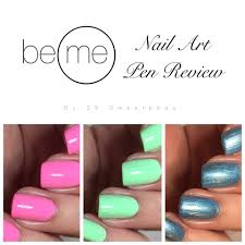 be me nail art pen review 25 sweetpeas