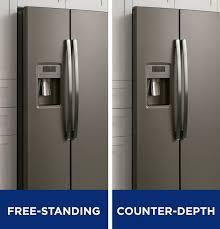 Cabinet Depth Refrigerator Reviews Innovative Side By Side Refrigerators Ge Appliances