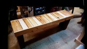 how to build a pallet wood bench inspired by diy creators youtube