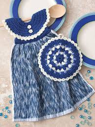 pattern crochet towel holder dress me up towel toppers and pot holders crochet pattern