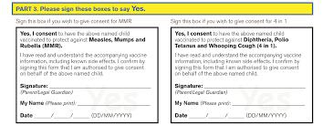 doc 600730 vaccine consent form u2013 sample vaccine consent form