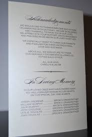 in memory of wedding program 8 best wedding programs images on wedding ceremony