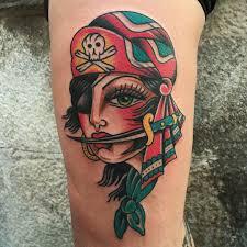 pirate tattoo by christian otto tattoos pinterest
