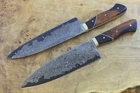 made kitchen knives just finished the kitchen knife made with our damascus