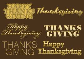 thanksgiving golden titles free vector stock