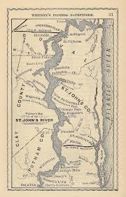 North Florida Map by Map Of The St Johns River North Florida 1876