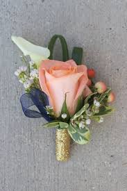 Gold Boutonniere Celebration Flair Peach And Pink And Coral Oh My Lindsay Andrew