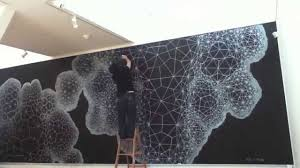 Sharpie Wall Mural Voronoi Tesselation Cloud Mural Youtube