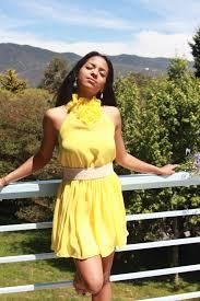 summer yellow mismatch bridesmaid dress for beach wedding