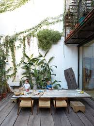one of a kind furniture fills this delightfully serene buenos