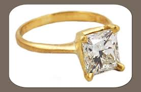 square engagement rings with band cut engagement ring yellow gold band eco friendly
