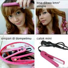Catok Ikal catok mini 2in1 lurus curly catokan mermaid haidi