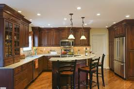 interior design traditional kitchen design with brick wall and