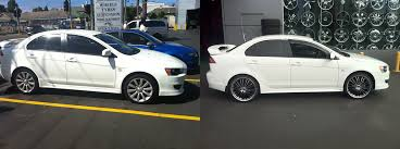mitsubishi lancer 2017 white new 20 inch rims on my white lancer clubcj the cj lancer club