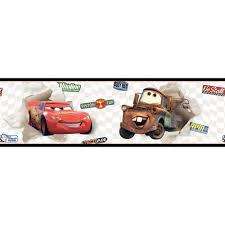 Wallpaper Borders For Kids Faixa Carros Mcqueen E Mate Disney York Casatema Linha