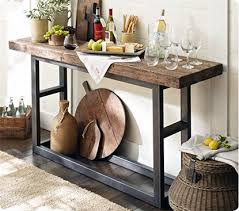 wood and iron sofa table 40 stunning reclaimed wood console tables