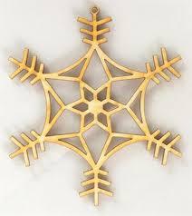 snowflake ornaments wood snowflake ornament 7 wood ornaments wood cutouts and shapes