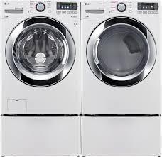Frigidaire Washer Dryer Pedestal Lg Wm3670hwa Front Load Washer U0026 Dlex3370w Electric Dryer W
