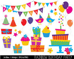 free rainbow birthday invitations birthday clipart birthday clip art bunting clipart birthday