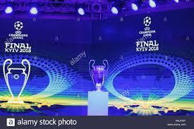 Uefa Chions League Kiev Ukraine 12th Dec 2017 The Uefa Chions League Trophy Is