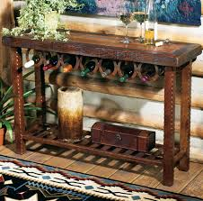 western furniture horseshoe wine rack table lone star western decor
