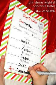 christmas wish list christmas wishlist printable letter real housemoms