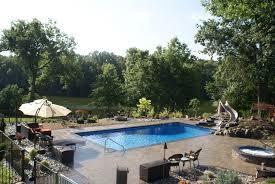astounding patio ideas feat inground rectangular pool as well as