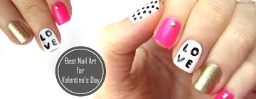 best simple and trendy nail art for valentines day