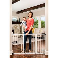 regalo extra wide step through baby gate 29
